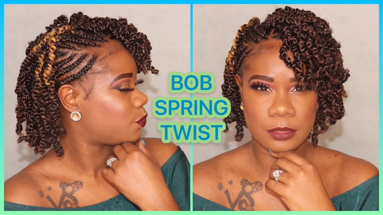 Bob Spring Twist Crochet Braids Bomb Twist Natural Hair