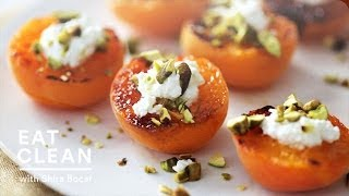Broiled Apricots With Fresh Ricotta And Pistachios - Eat Clean With Shira Bocar