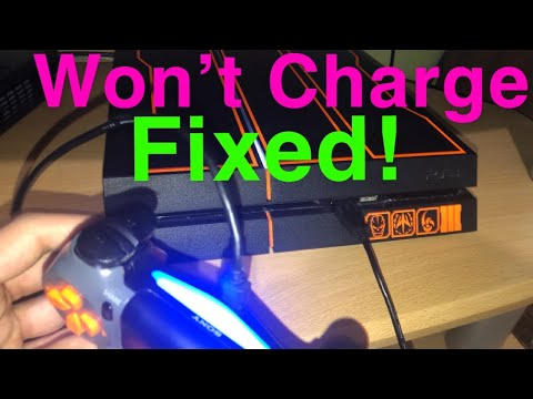 PS4 controller not charging FIX! Won't charge FIXED!