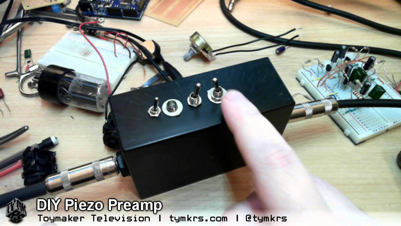 Tymkrs Piezo Preamp Youtube Low Noise Microphone Pre Amp With Op