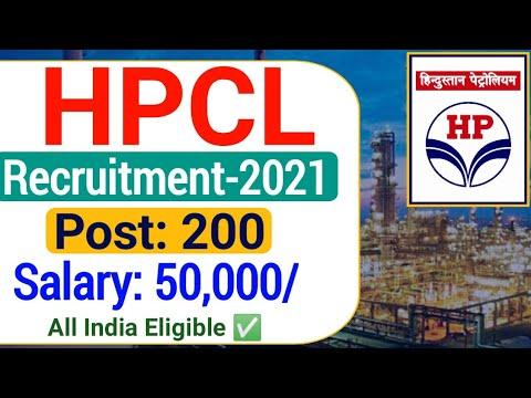 HPCL Recruitment 2021| HPCL Vacancy 2021| Hindustan Petroleum Engineering Recruitment 2021| Post-200