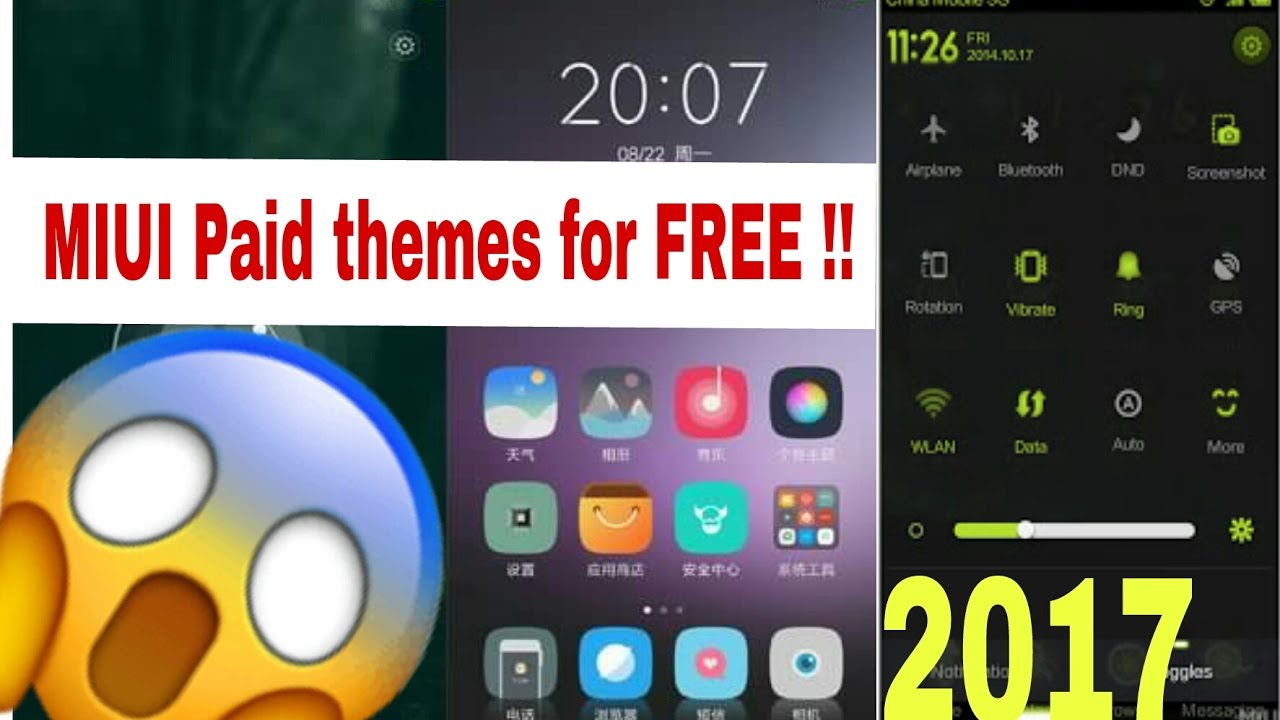 Download for free all paid MIUI Themes 2017 !! NEW !![ Check Description  first ]