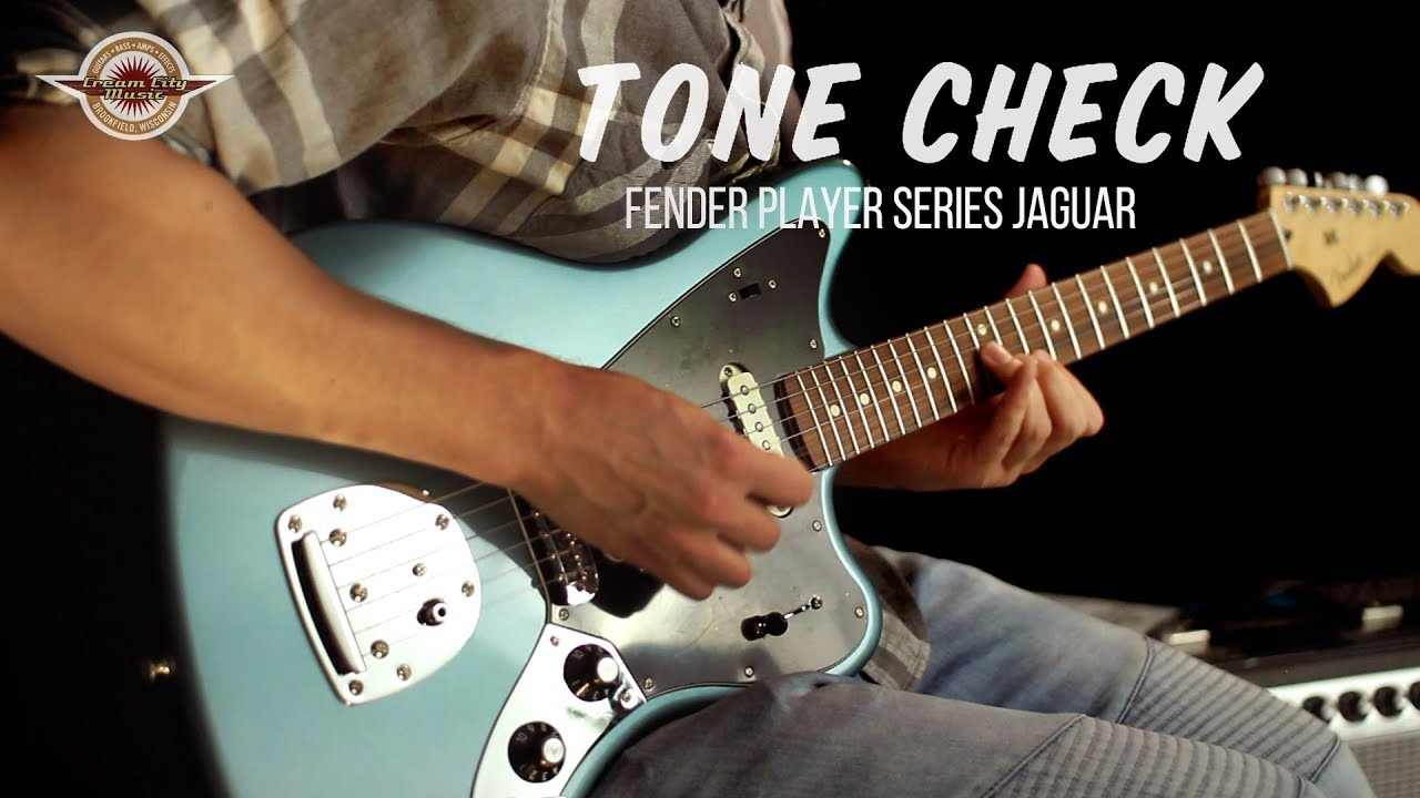 tone check: 2018 fender player series jaguar demo - no talking - youtube