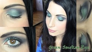 green smokey eye perfect for brown hazel eye makeup tutorial ft too faced smoky eye palette
