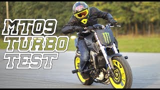 STUNTER 13 - YAMAHA MT09 TURBO TEST