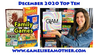Game Like a Mother Top 10 December 2020: Family Games