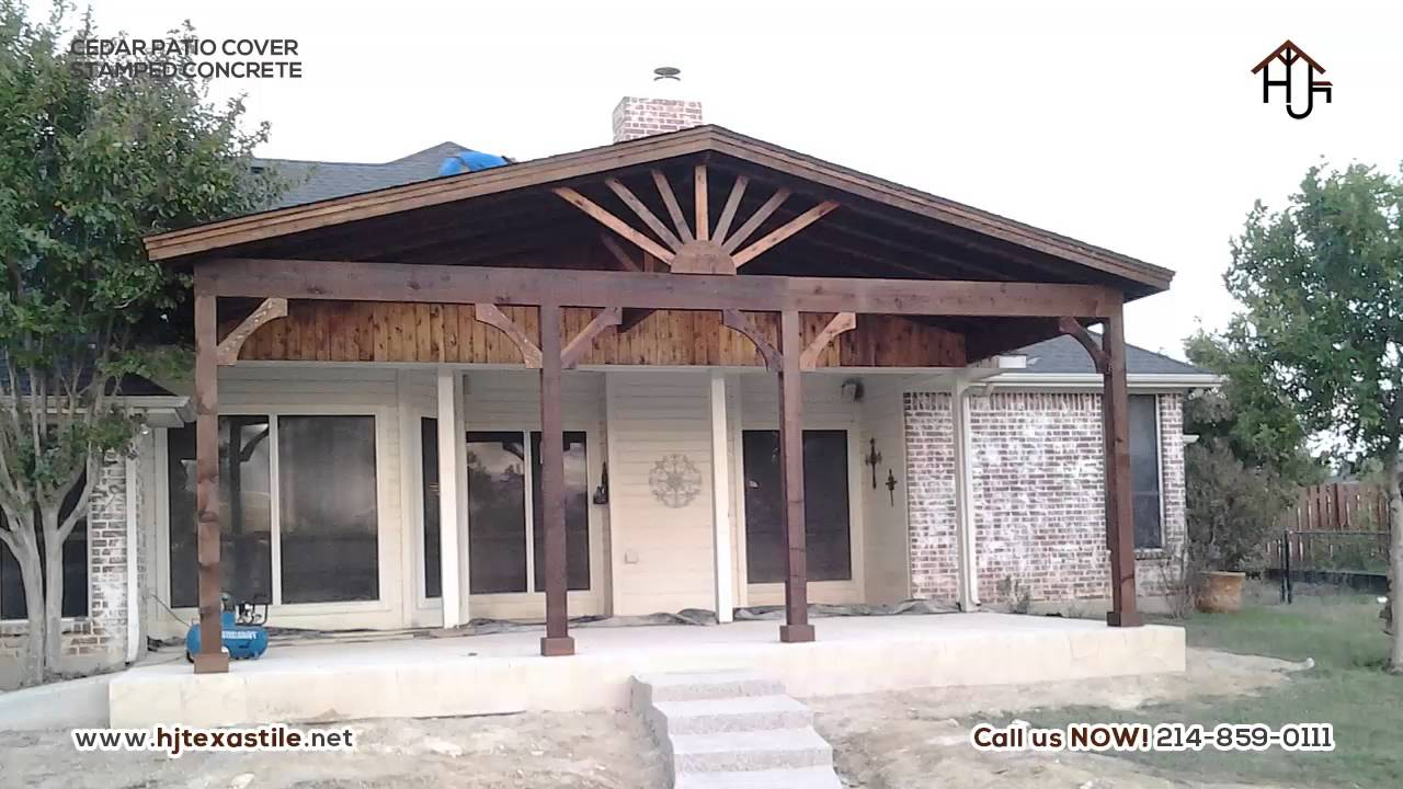 HJ Cedar Patio Cover Dallas