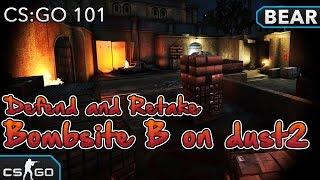 CS:GO 101 - Defend and Retake Bombsite B on dust2 Tutorial