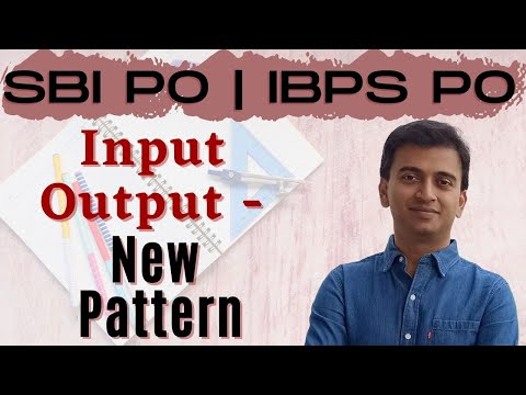 Input - Output: New Pattern | SBI PO 2017 Online Classes #DAY 14