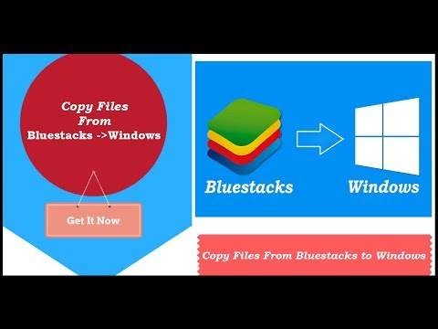 How to Copy/Move Files From Bluestacks to Windows Local Folder || Import Files Bluestacks to Windows