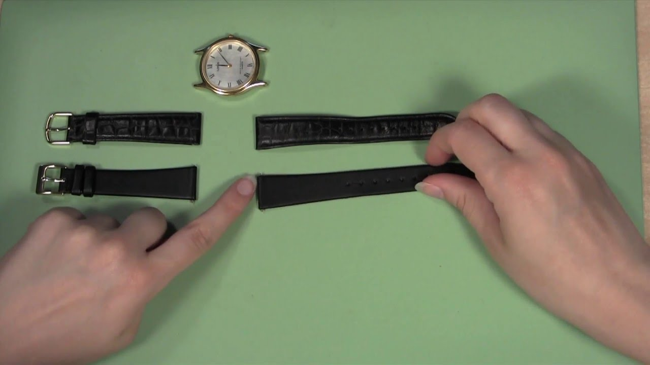 how to replace leather watch band