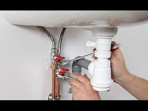Installer L 39 Arriv E D 39 Eau Et L 39 Vacuation D 39 Un Lavabo Youtube