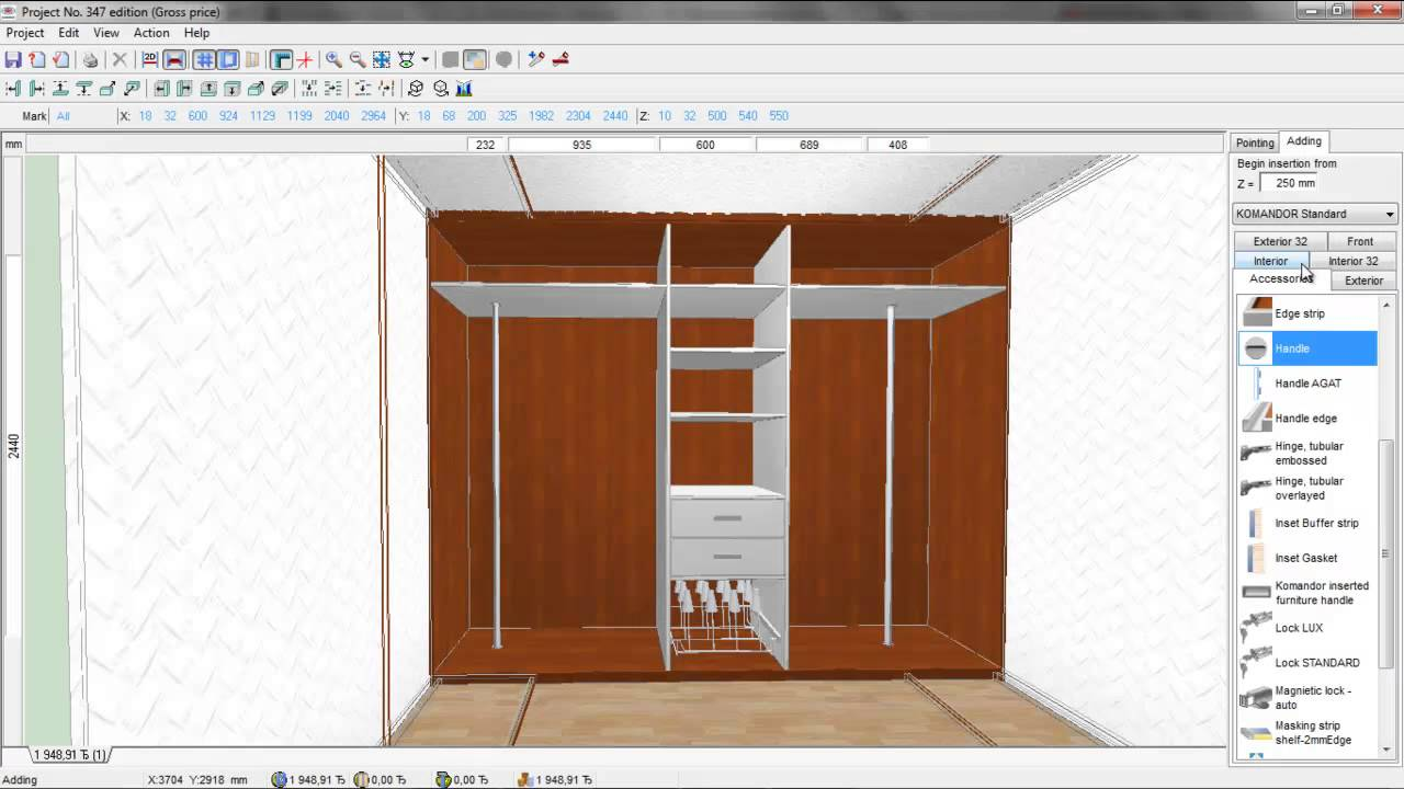 3 X 2 M Walk In Wardrobe Design Youtube