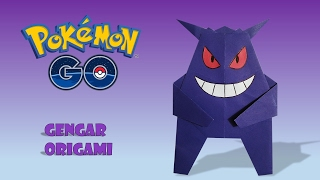 POKEMON GO GENGAR EVOLUCION ATAQUES POKEMON ORIGAMI FACIL