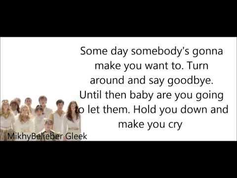 GLEE- Hold on (Lyrics)