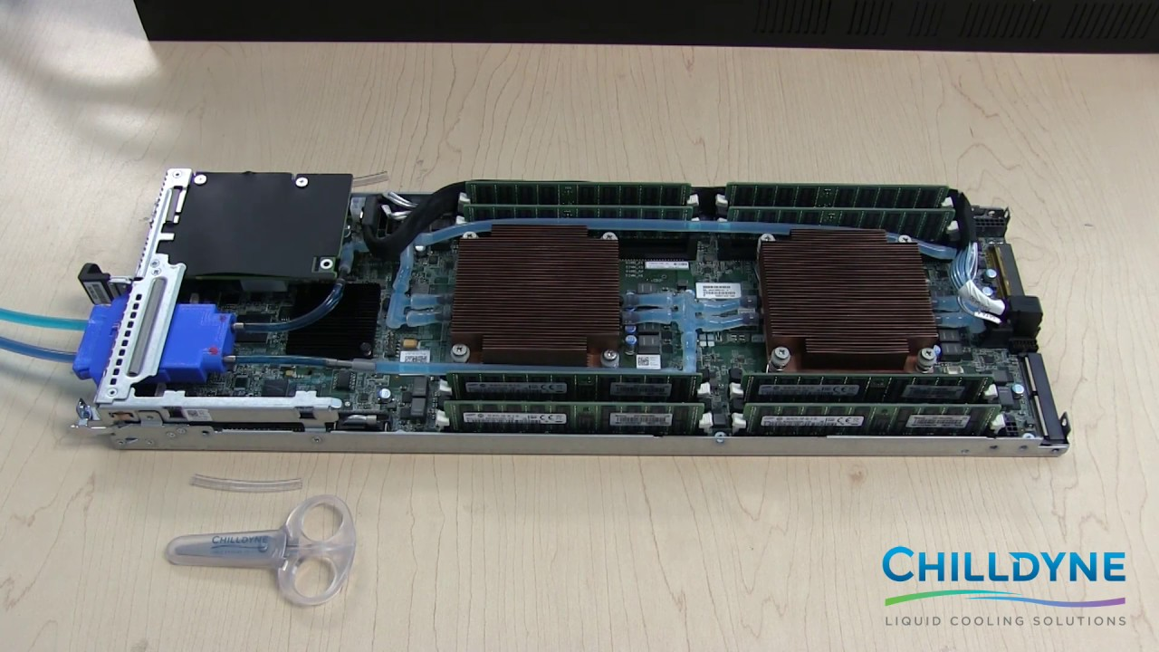 Chilldyne Liquid Cooling a Dell C6320 Blade Server - YouTube