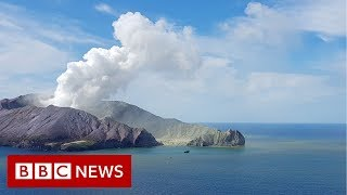 New Zealand volcano: The moment after eruption hit - BBC News