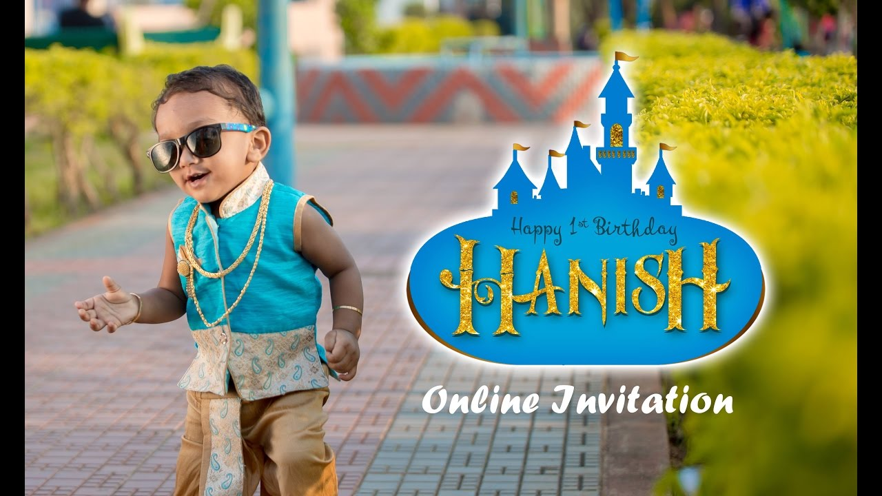 Hanish 1st Birthday Online invitation by Aica events - YouTube