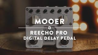 vuclip Mooer ReEcho Pro Digital Delay Pedal | Reverb Demo Video