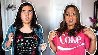 CLOTHES SWAP CHALLENGE WITH MY MOM
