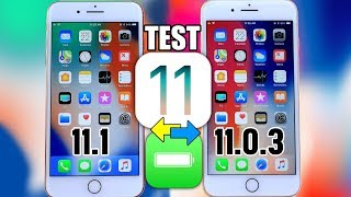 iOS 11.1 vs iOS 11.0.3 Battery TEST | This Might Surprise You
