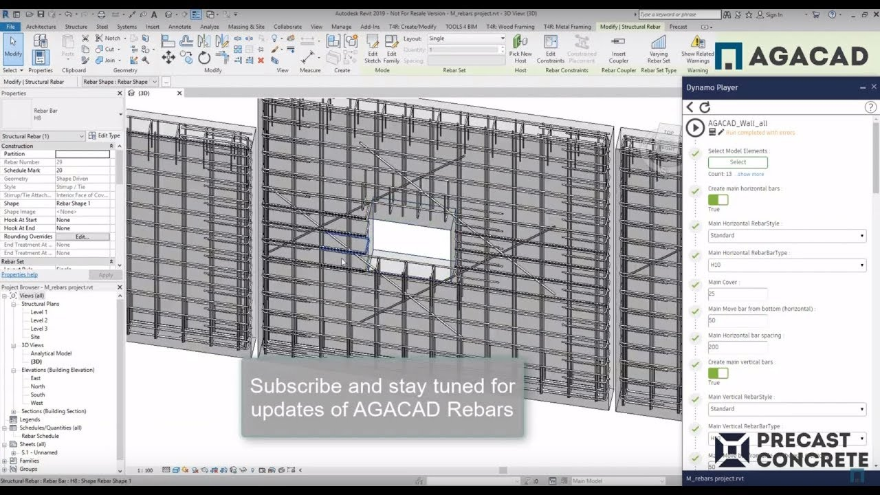 Dynamo Script #5: Place all rebar with only one script in Revit