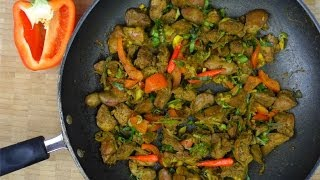 Quick And Tasty Curry Chicken Livers.