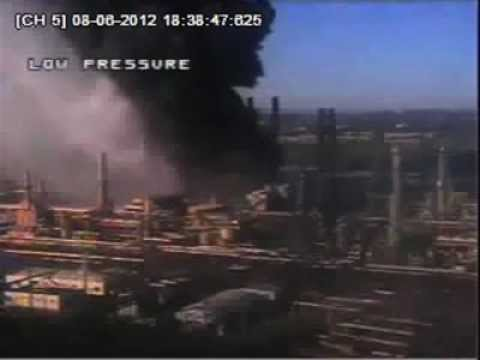 Surveillance Video from the August 6 Accident at the Chevron Refinery in Richmond, CA