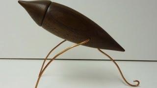 Woodturning Walnut Box With Legs