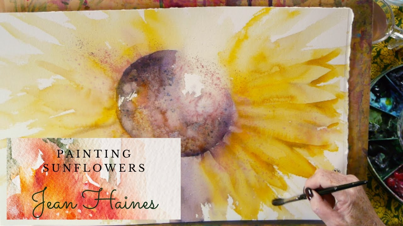 Painting a Sunflower with Jean Haines - Preview