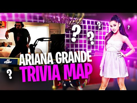 COURAGE ATTEMPTS ARIANA GRANDE TRIVIA MAP?! (Fortnite: Battle Royale)