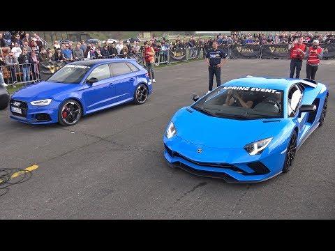 Audi RS3 Sportback vs Lamborghini Aventador S