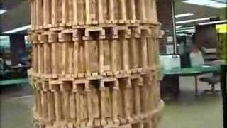 Jenga Tower Of Pisa Crash - HQ Full Video(This is the full video of the jenga tower of pisa crash. No obscuring labels, and you can tell it was a set up joke., 2008-03-19T17:07:42.000Z)
