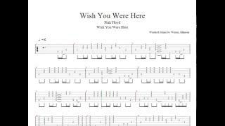 #Pink Floyd  Wish You Were Here Tablatura como tocar!