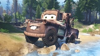 OFF-ROADING AS MATER! 4x4 Mudding, Hill Climbing, & Exploring! (SpinTires Gameplay)[Cars Movie]