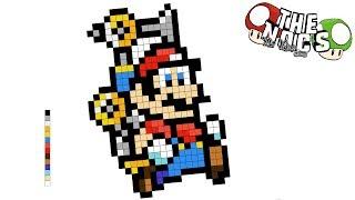 Super Mario Sunshine Pixel Art | Hama Pattern | Ideas Hama | TheNocs Pixel Art