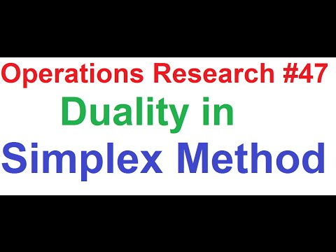 Operations Research(OR) Tutorial #47: Duality in Simplex Method_Minimization Problem [1 of 3]