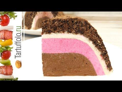 Торт БЕЗ ВЫПЕЧКИ Шоколадный Клубничный Банановый