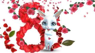 Zoobe Зайка с праздником 8-го марта