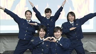 女性警官5人の「ゴシンジャー」、女性行員に護身術伝授 高松北署