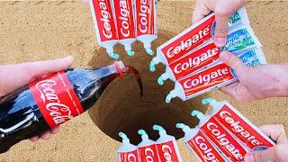 experiment Coca Cola vs Colgate underground!