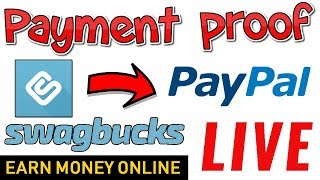 Swagbucks Payment Proof | PayPal Cash Live Withdrawal - Earn Money Online