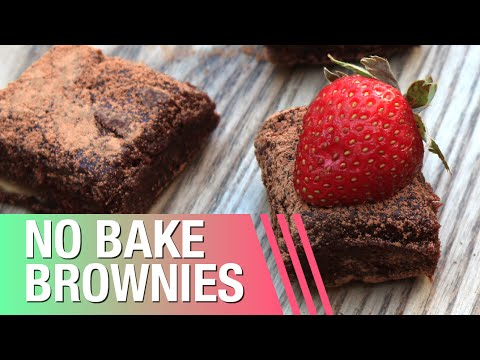 No Bake Brownies // Raw Vegan + 3 Ingredients!
