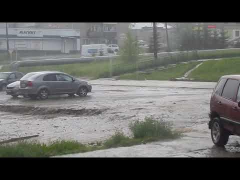 Гроза в Омутнинске: стихия разбушевалась