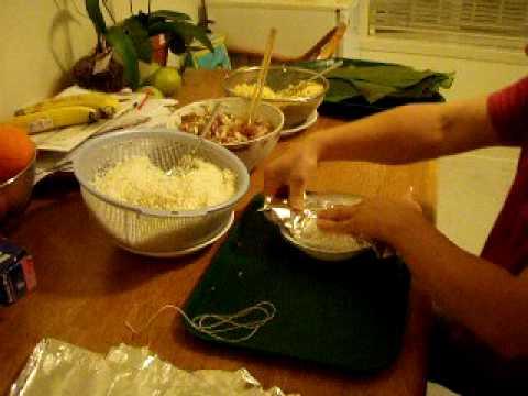 Goi Banh Chung (wrap a rice cake- simplified)