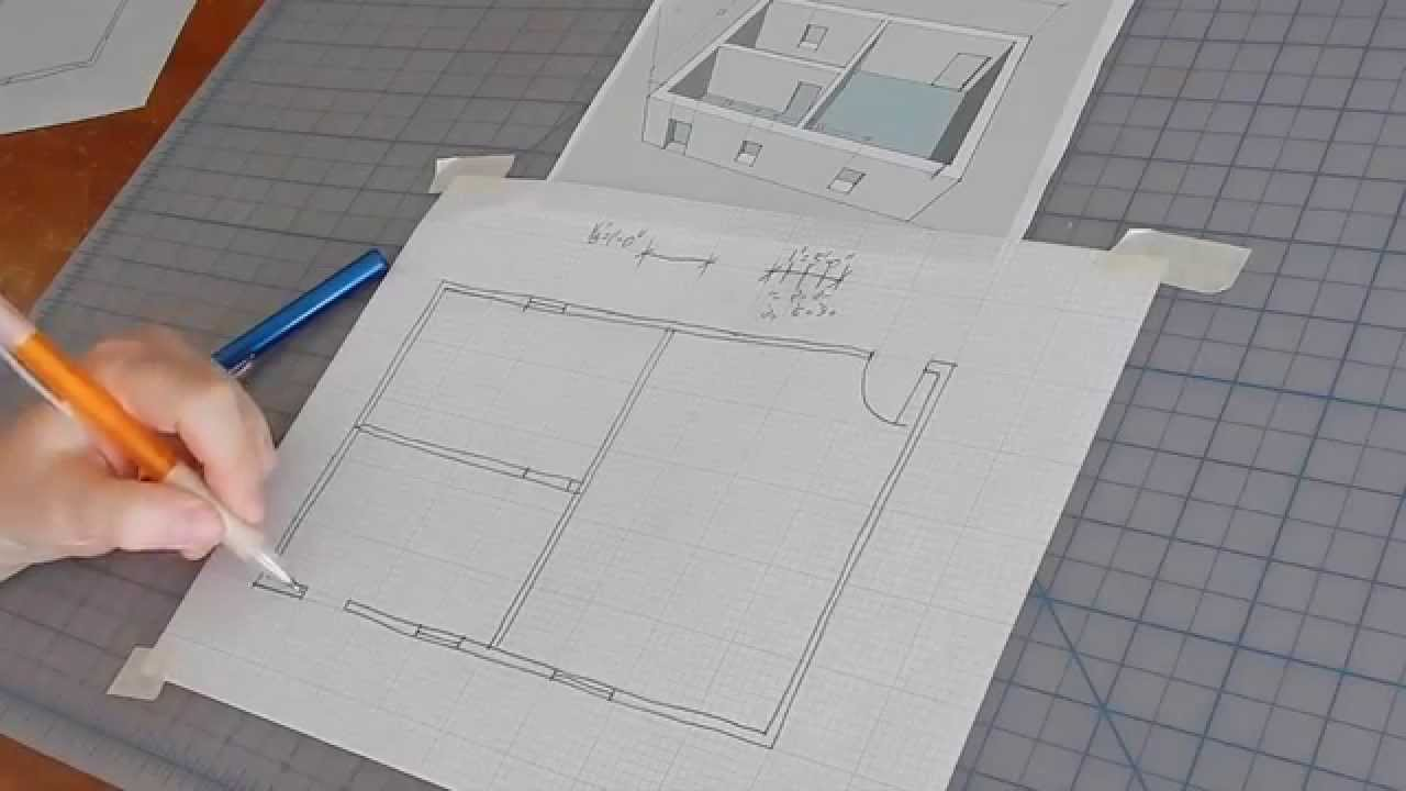 Kitchen Design Layout Graph Paper How To Sketch A Floor Plan Youtube