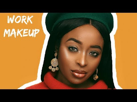Work Friendly Makeup Tutorial for Brown Skin
