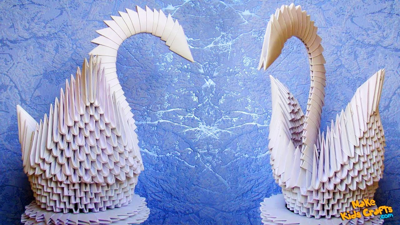 how to make a swan modular origami youtube