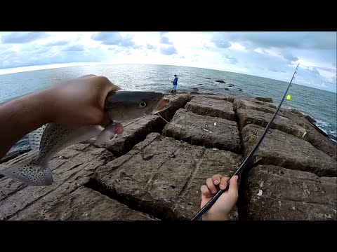 Surfside Jetty fishing (Freeport, Tx) GoPro Hero3+ 720p HD