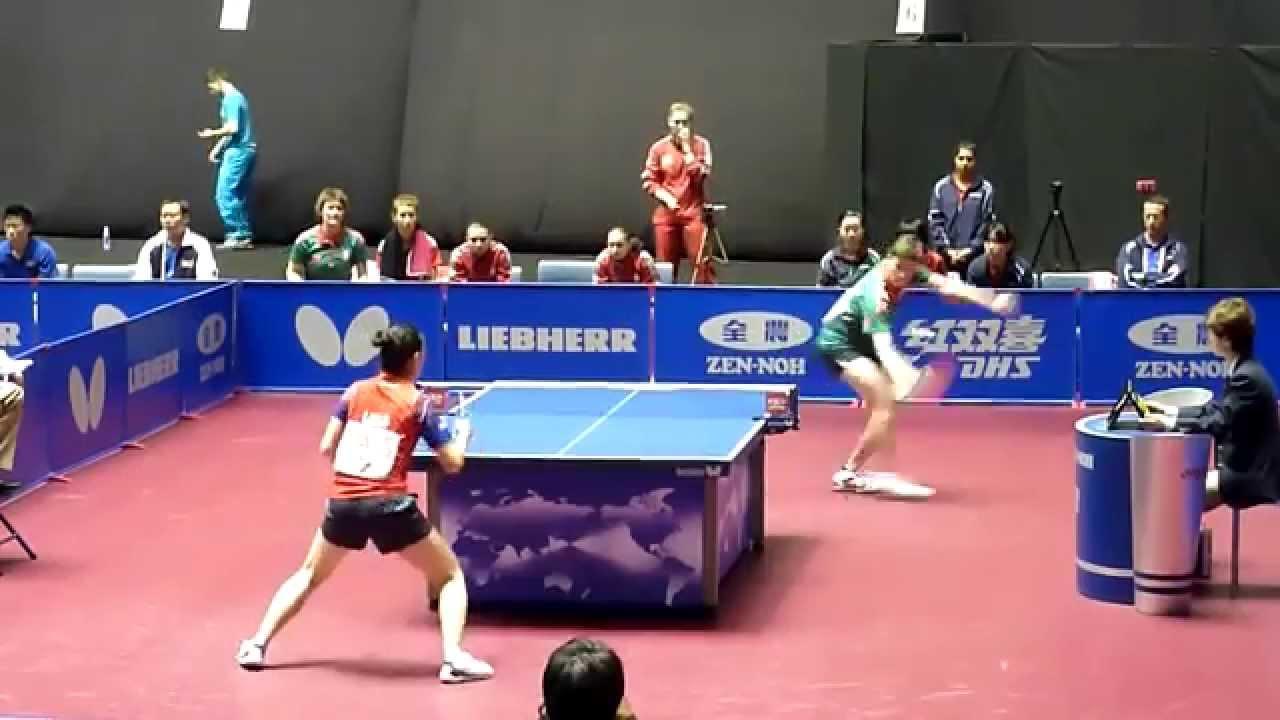 Lily zhang usa vs viktoria pavlovich blr 2014 world - World table tennis championships ...